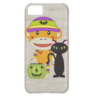 Autumn Halloween Retro Sock Monkey Cover For iPhone 5C
