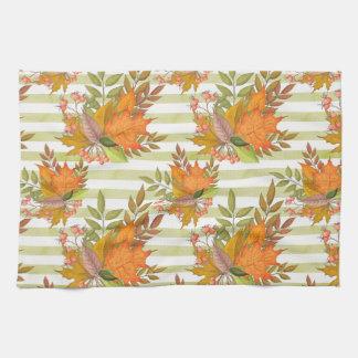 Autumn Hand Painted Illustration Kitchen Towel