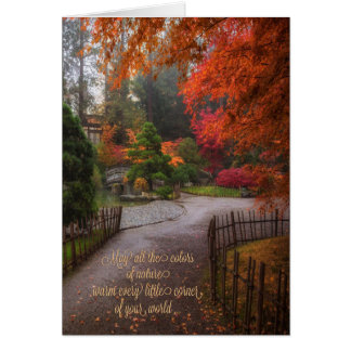 Autumn Happy Birthday Colours of Fall Card