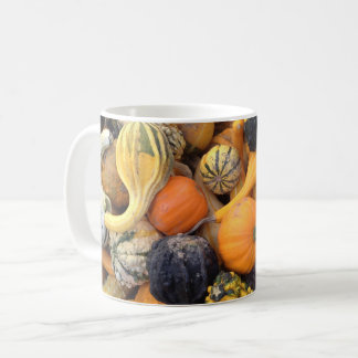 Autumn Harvest Gourds and Pumpkins Coffee Mug