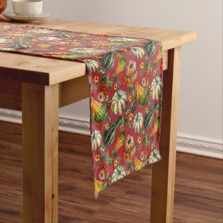 Autumn Harvest Gourds Table Runner
