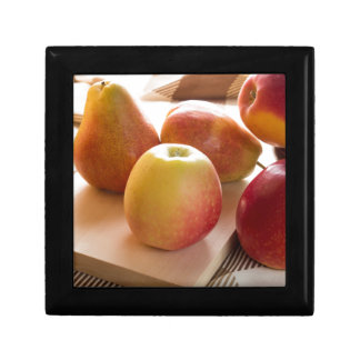 Autumn harvest of apples and pears gift box
