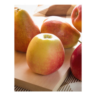 Autumn harvest of apples and pears letterhead design