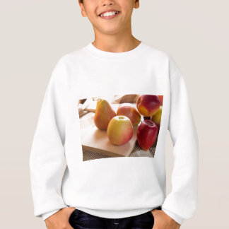 Autumn harvest of apples and pears sweatshirt