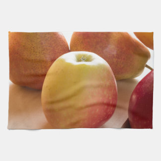 Autumn harvest of apples and pears towel