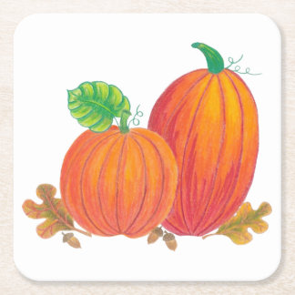 Autumn Harvest Pumpkin Coaster