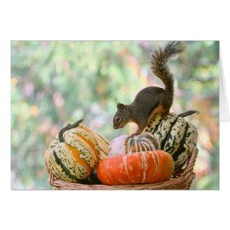 Autumn Harvest Squirrel Card