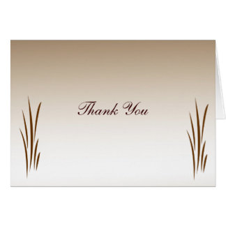 Autumn Harvest Wedding Thank You Card