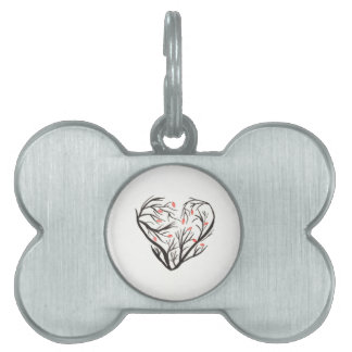 Autumn Heart Pet ID Tags