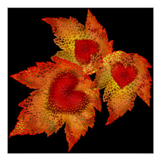 Autumn Hearts Print