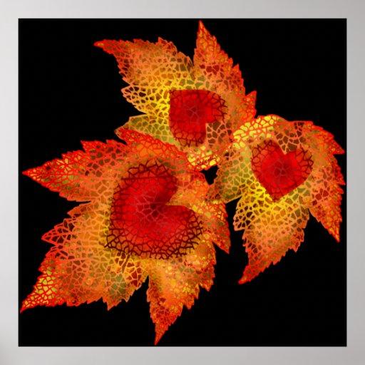 Autumn Hearts Print