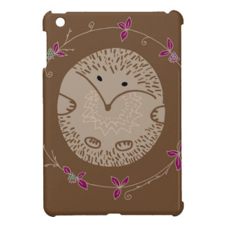 Autumn hedgehog cover for the iPad mini