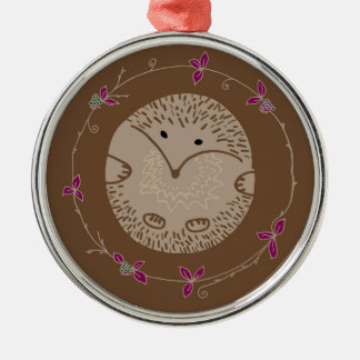 Autumn hedgehog metal ornament