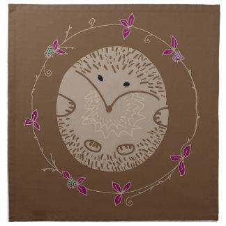 Autumn hedgehog napkin