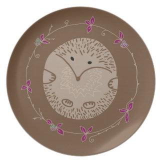 Autumn hedgehog plate
