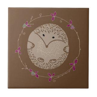 Autumn hedgehog tile