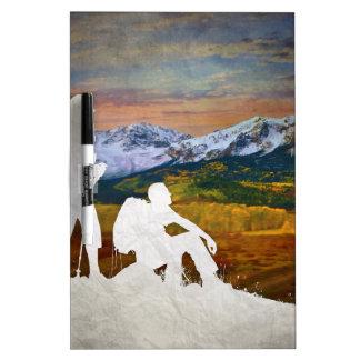 Autumn hike dry erase board