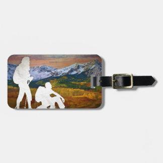 Autumn hike luggage tag