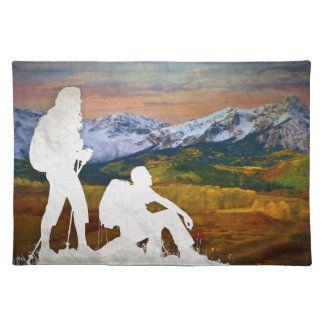 Autumn hike placemat