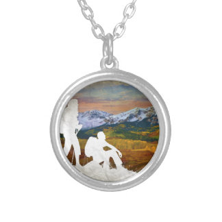Autumn hike silver plated necklace