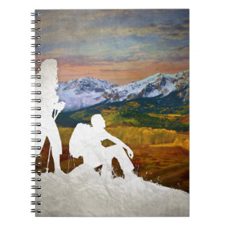 Autumn hike spiral notebooks