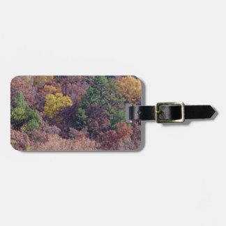 Autumn hillside luggage tag