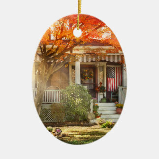Autumn - Home is where your story begins Ceramic Ornament
