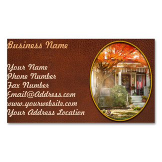 Autumn - Home is where your story begins Magnetic Business Card