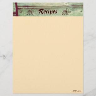 rustic recipe cards zazzle ca