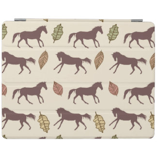 Autumn Horses and Leaves iPad Cover