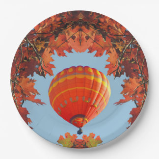 Autumn Hot Air Balloon Paper Plate