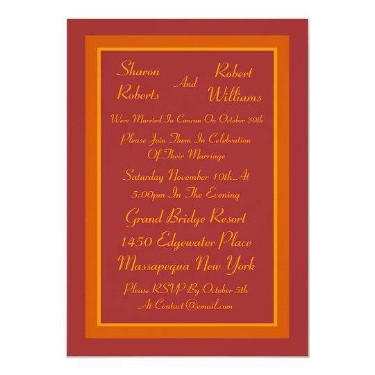 Autumn Hue Post Wedding Invitation