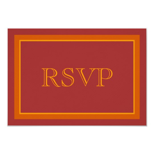 Autumn Hue Wedding RSVP Card