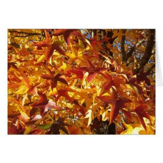 Autumn Hues, Joy and Smiles Card