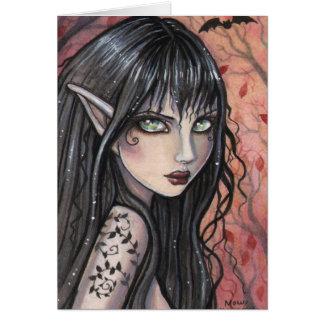 Autumn Imp Fairy Card by Molly Harrison