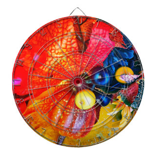 autumn impression dartboard