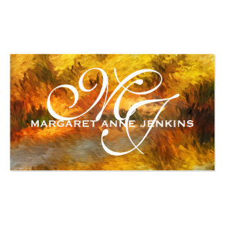 Autumn Impressions   Monogrammed Business Cards
