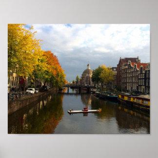 "'Autumn in Amsterdam', 11"" x 8.5"" Matte Poster"