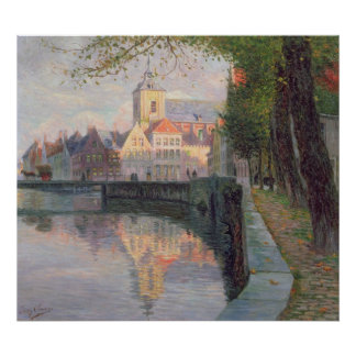 Autumn in Bruges Poster