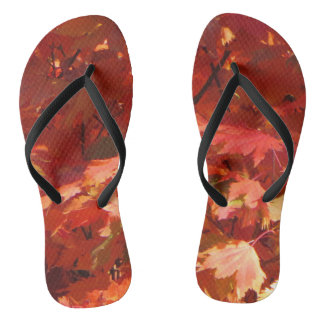 Autumn in Canberra Flip Flops