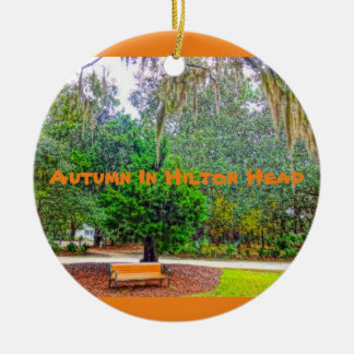 Autumn In Hilton Head Coastal Discovery Museum HHI Round Ceramic Ornament