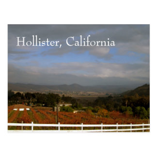 Autumn in Hollister, California Postcard