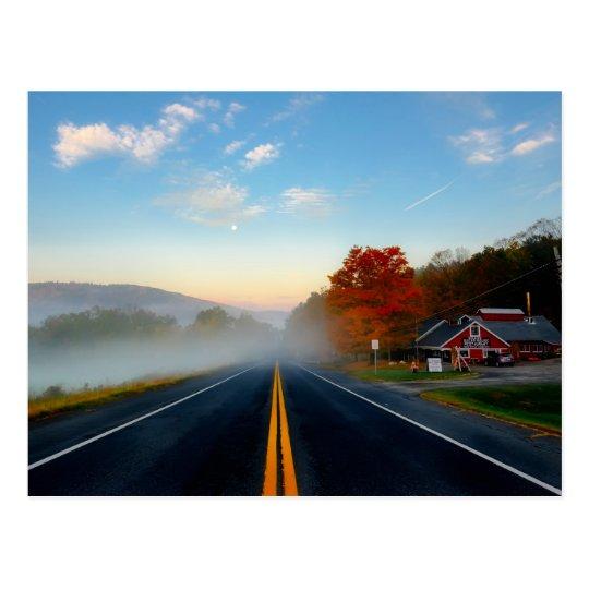 Autumn in Massachusetts postcard