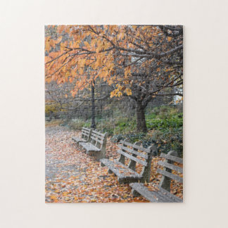 Autumn in New York City Riverside Park NYC Photo Jigsaw Puzzle