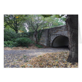 Autumn in New York NYC Riverside Park Archway Fall Card