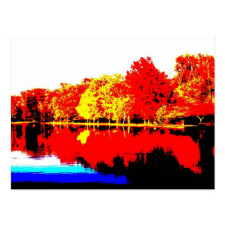 Autumn in Primary Colors Postcard