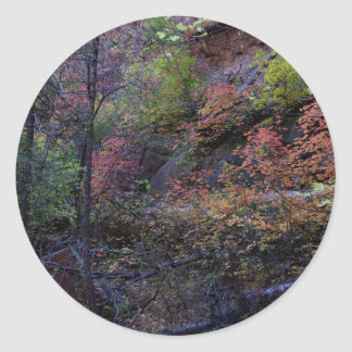 Autumn in Sedona Classic Round Sticker