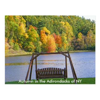 Autumn in the Adirondacks of NY Postcard