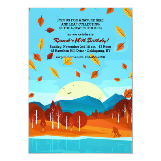 Autumn in the Forest Invitation