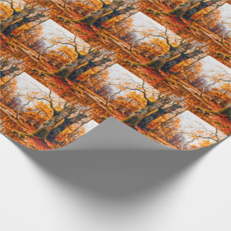 Autumn in the Forest Painting with a Vintage Feel Wrapping Paper